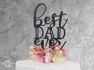 Best dad ever cake topper